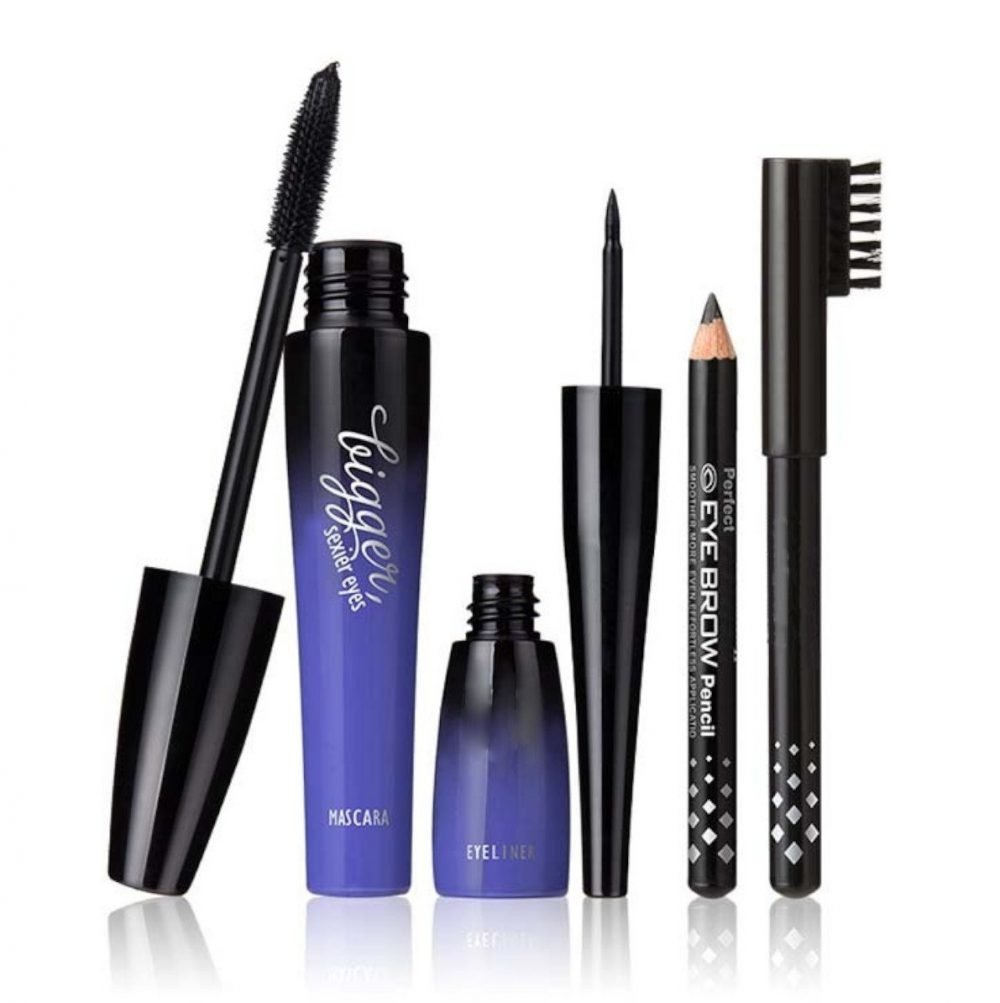 MN Bigger sexier eyes combo eyeliner, mascara, eyebrow pencil set of 3