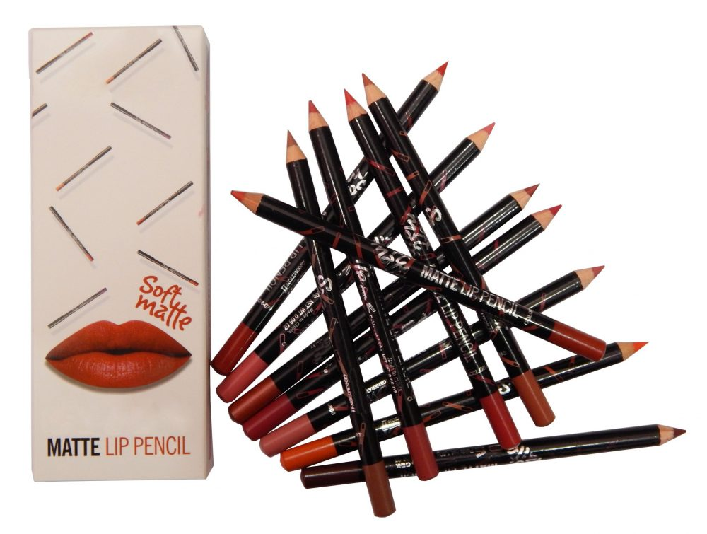 M.N Soft matte lip pencil set of 12