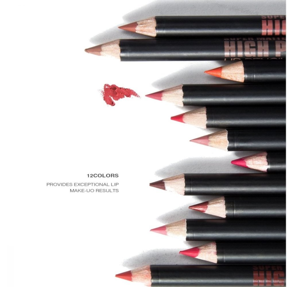 M.N high precision lip liner set of12 multiclor