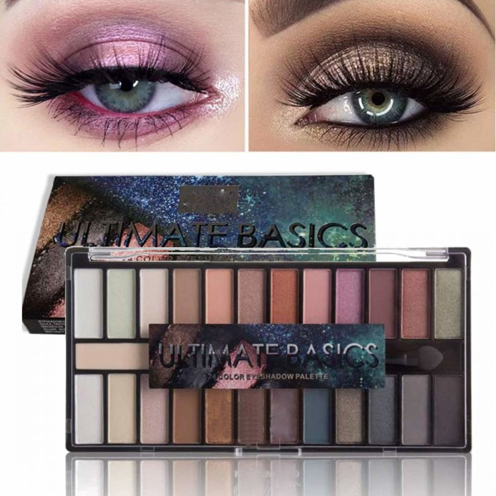 M.N 24 Color ultimate basic eye shadow makeup palette with eyeshadow primer