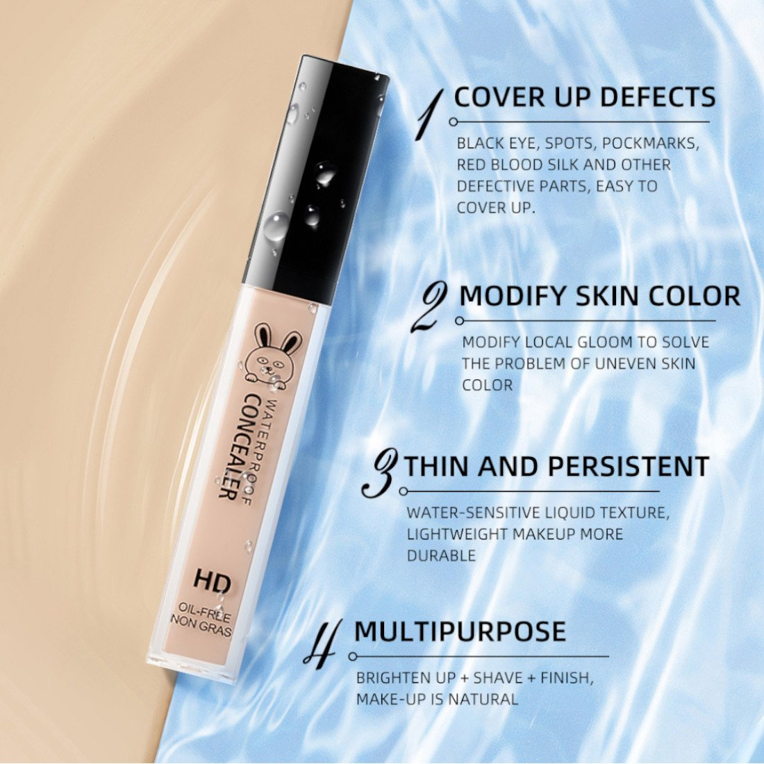 M.N waterproof HD liquid concealer