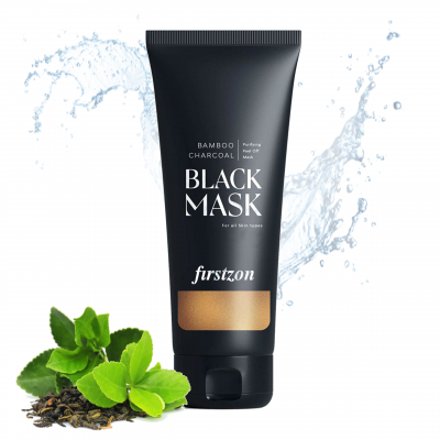 Firstzon Organic bamboo charcoal black mask with green tea extract