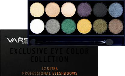Vars london 12 color matte and shimmer combo eyeshadow palette