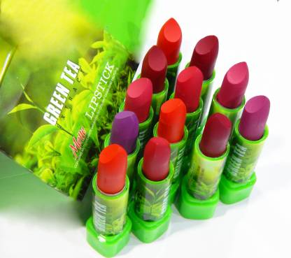 ADS super matte green tea color changing lipstick combo pack of 12