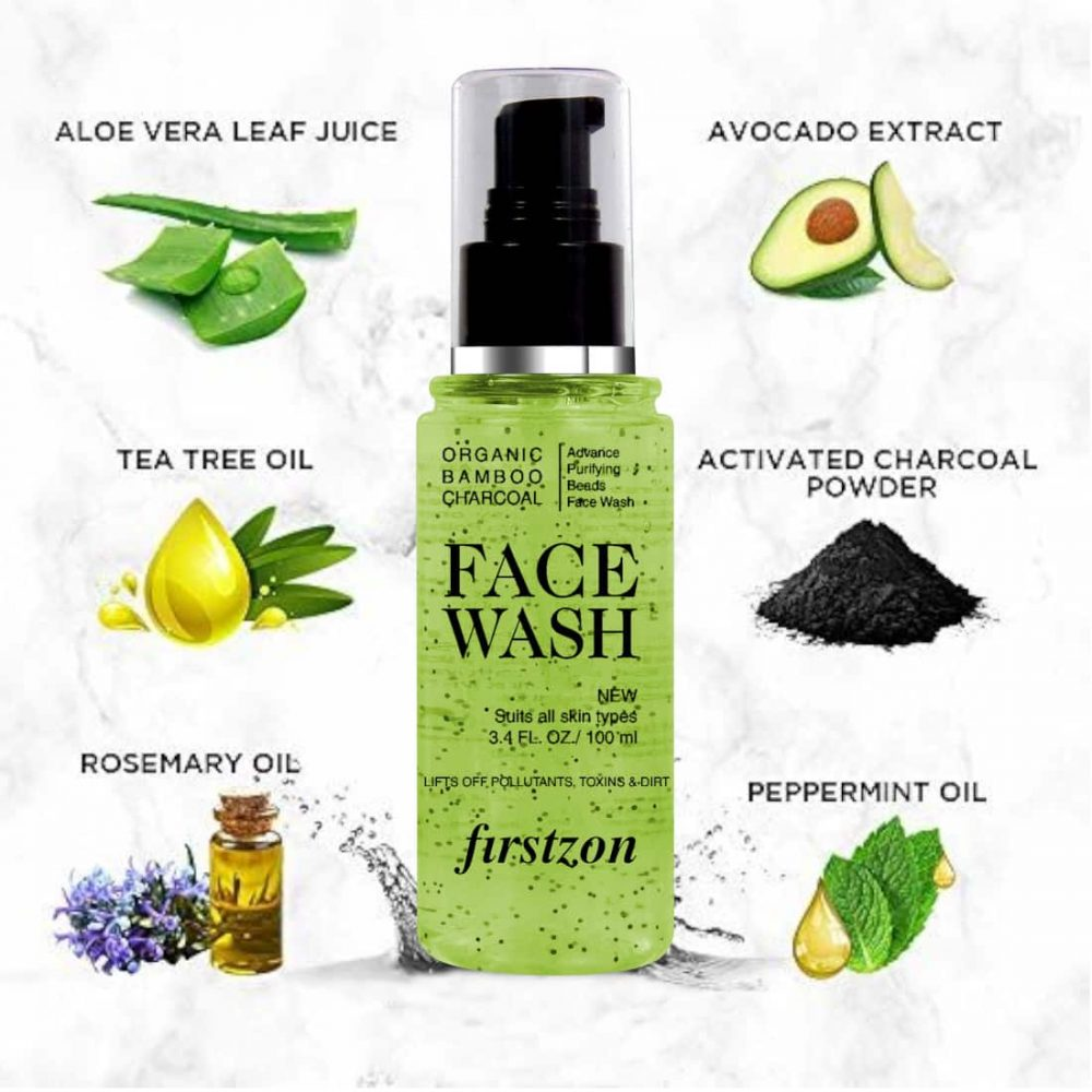 firstzon charcoal beads face wash