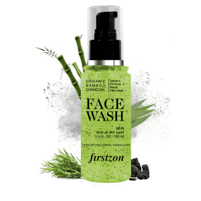 FIRSTZON advance purifying bamboo charcoal beads face wash aloe and apple cider extract face wash (100ml)
