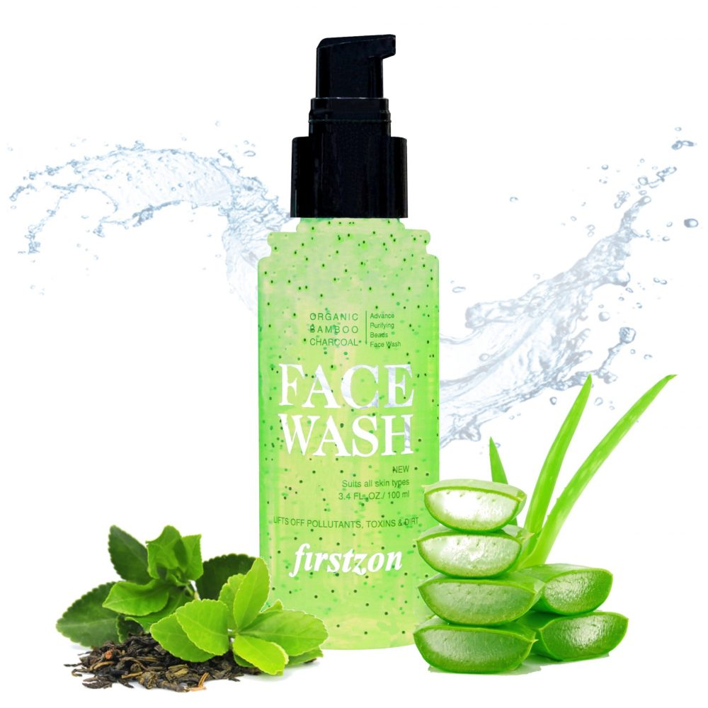 Firstzon Activated charcoal face wash with activated charcoal beads no sulphates face wash 100ml