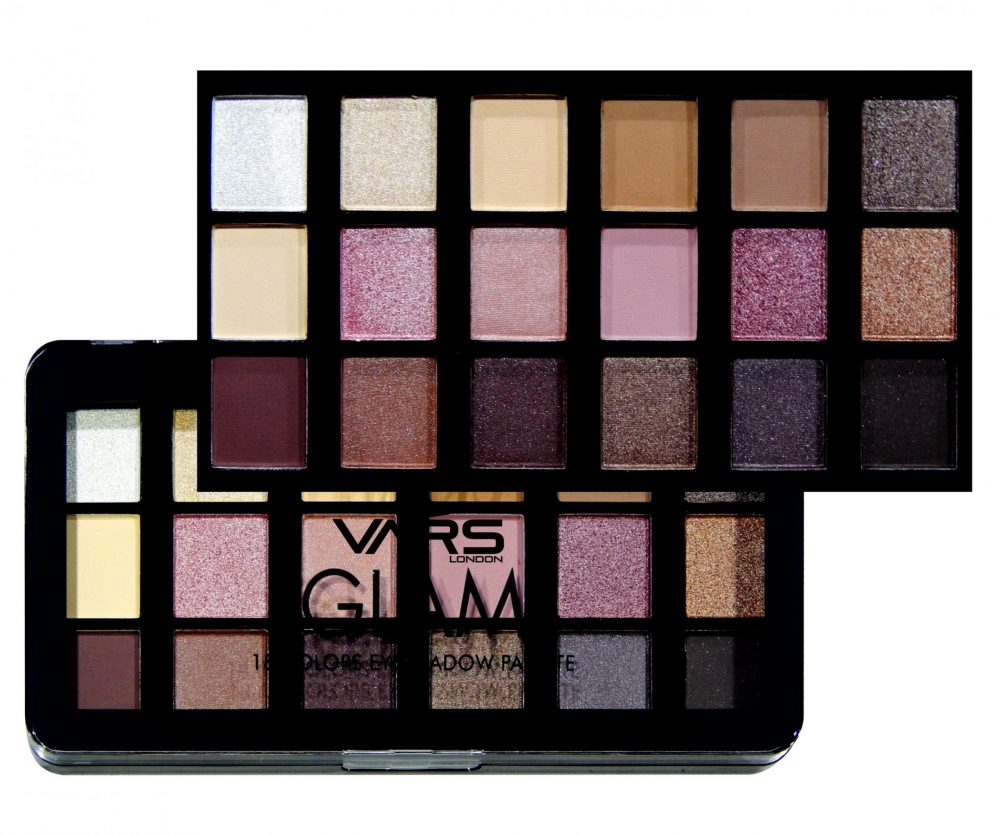 Vars london 18 color matte and shimmer combo eyeshadow palette