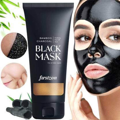 Firstzon Activated charcoal skin purifying and brightening Peel off Face mask, 100g