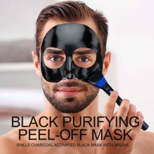 Firstzon Mens skin brightening pores tightening charcoal peel off mask
