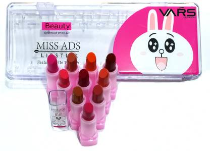 VARS LONDON super matte mini lipstick pack of 10