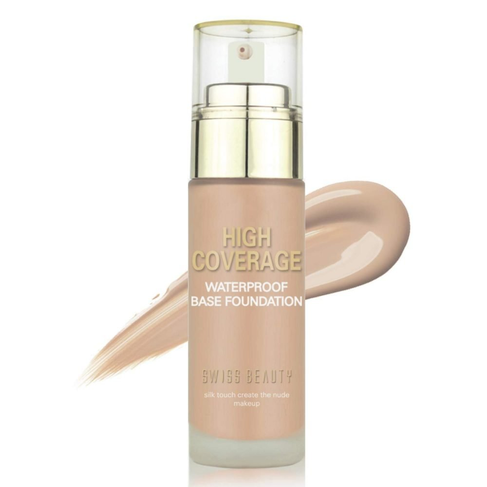 Swiss beauty High coverage Waterproof Base Foundation Face makeup 60g