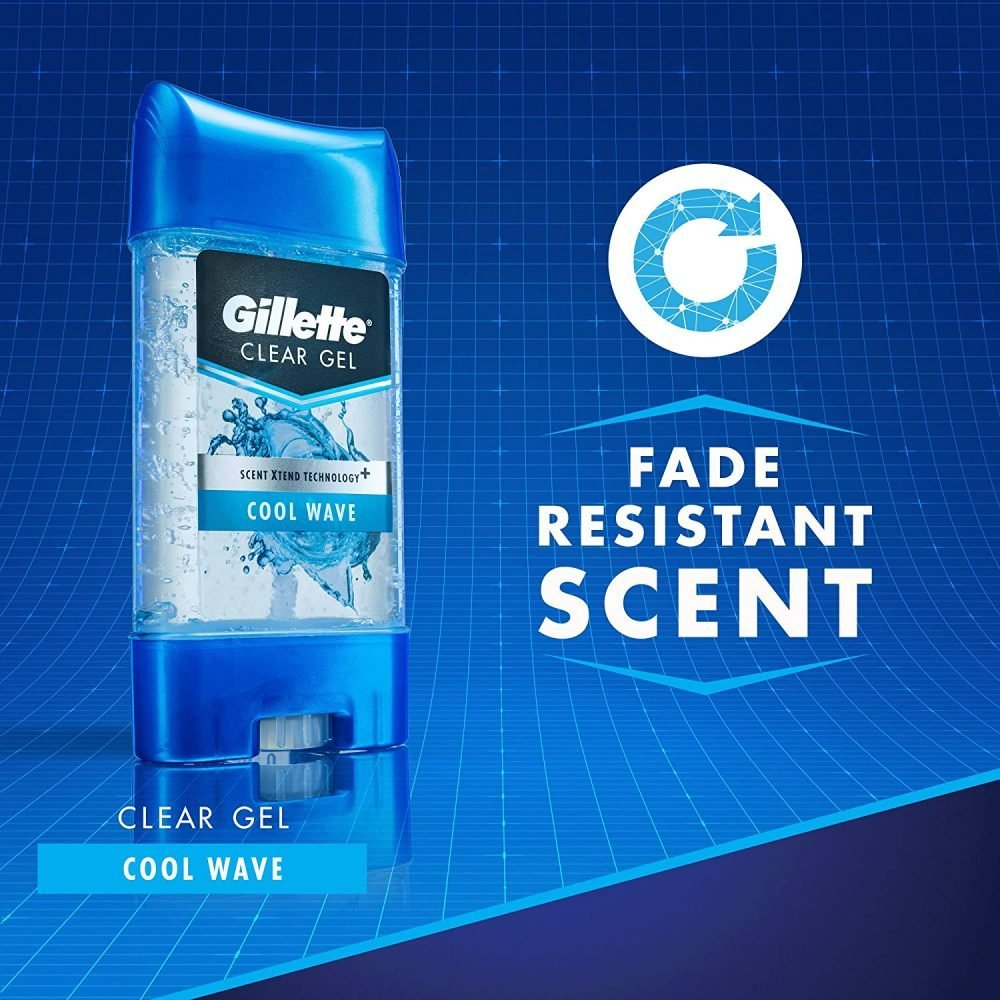 Gillette clear Gel cool wave anti-perspirant/Deodorant twin pack