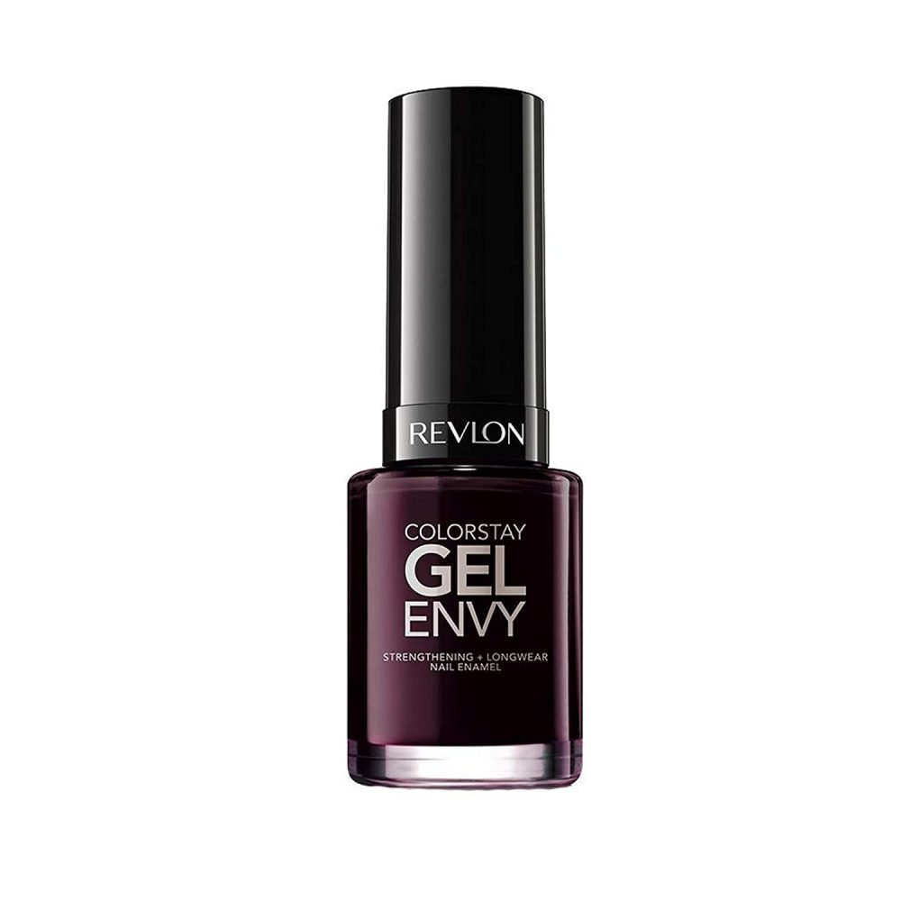 Revlon color stay gel envy longwear nail polish,with built-in coat &amp glossy shine finish,in plum/berry.