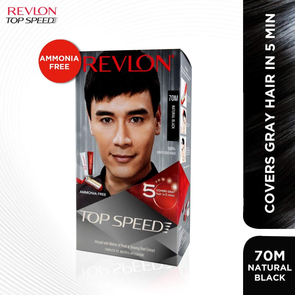 Revlon top hair color for man natural black with free conditioner