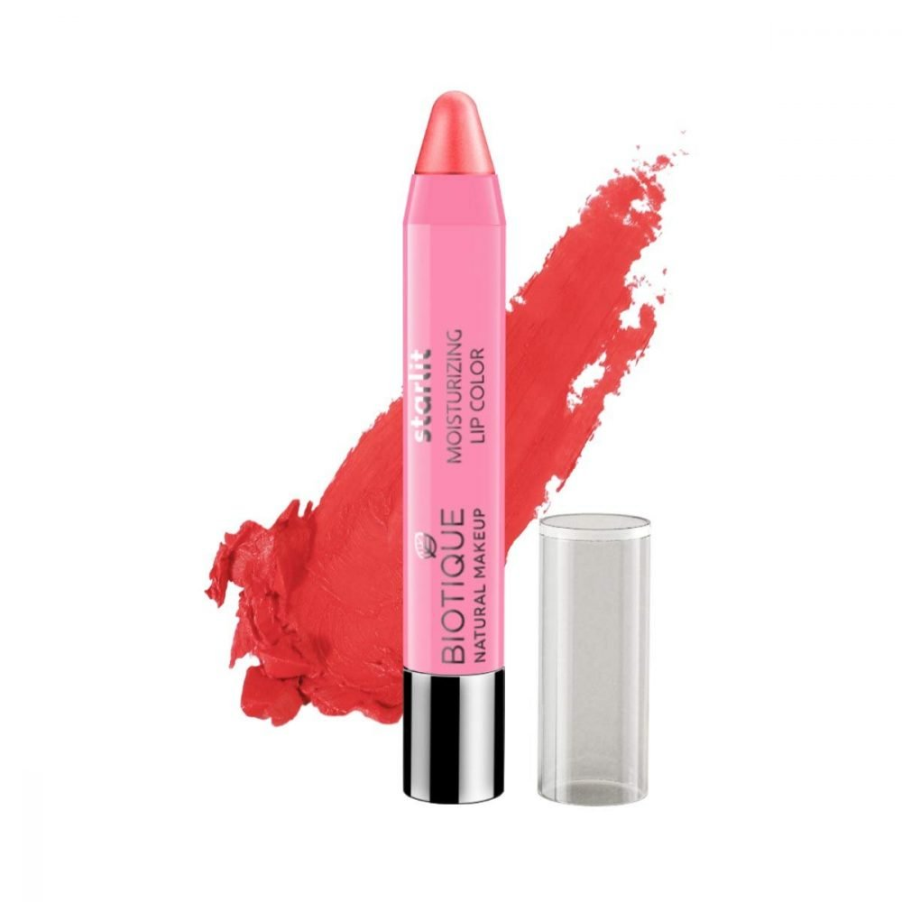 Biotique Natural makeup starlit Moisturizing lipstick coral Dew