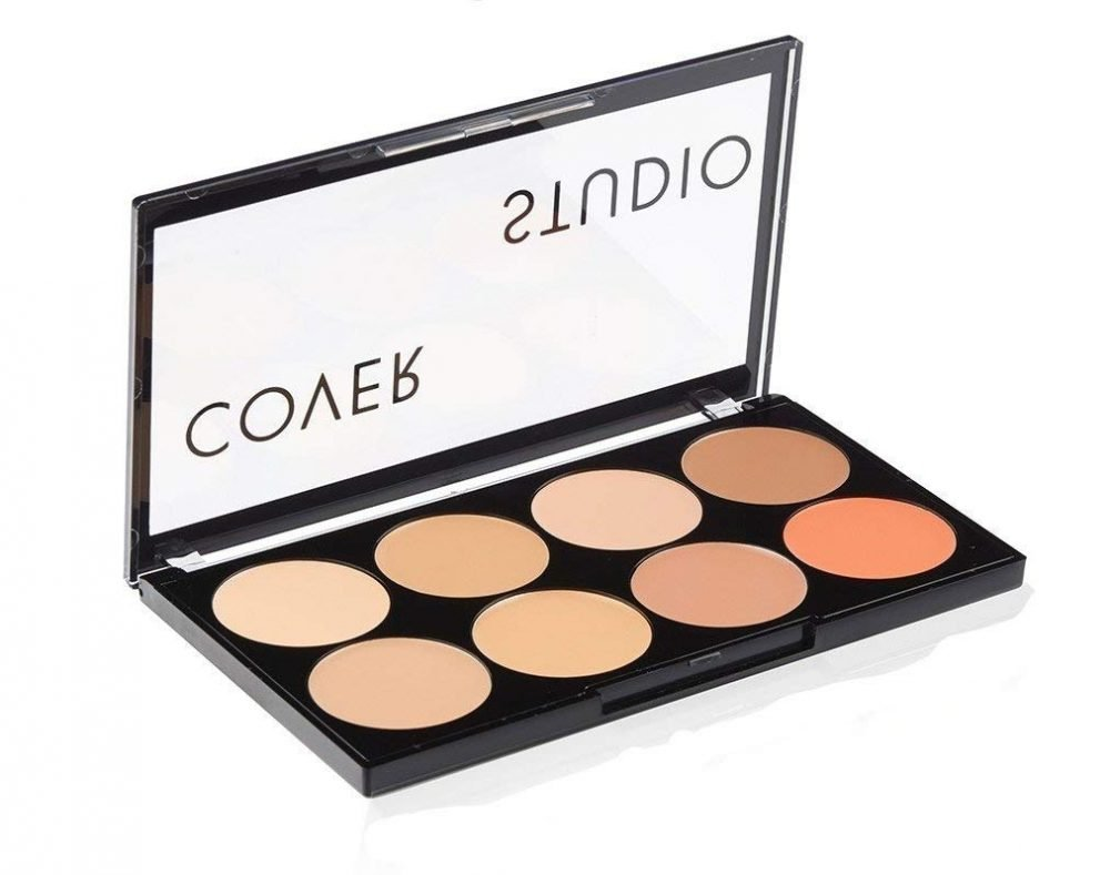 Swiss Beauty oil and wax Free cover Studio ultra base concealer palette