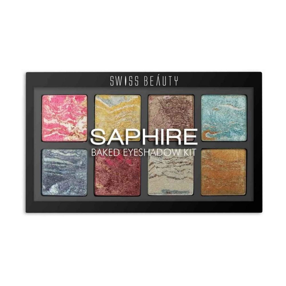 Swiss beauty Saphire Baked 8 color Eyeshadow palette