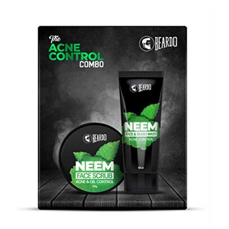 Beardo The Acne control Neem Face Scrub & beard wash combo pack