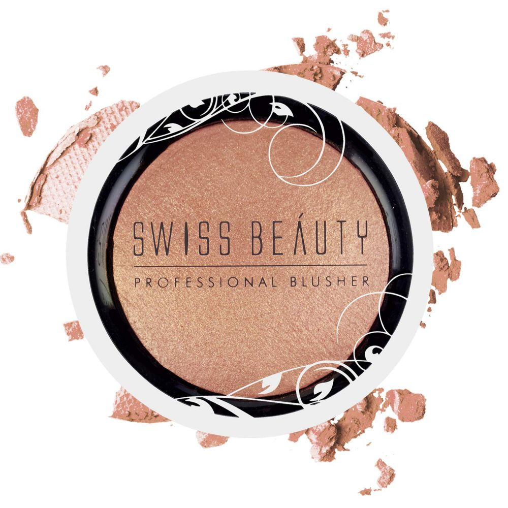 Swiss Beauty professional Rose Gold Blusher and highlighter