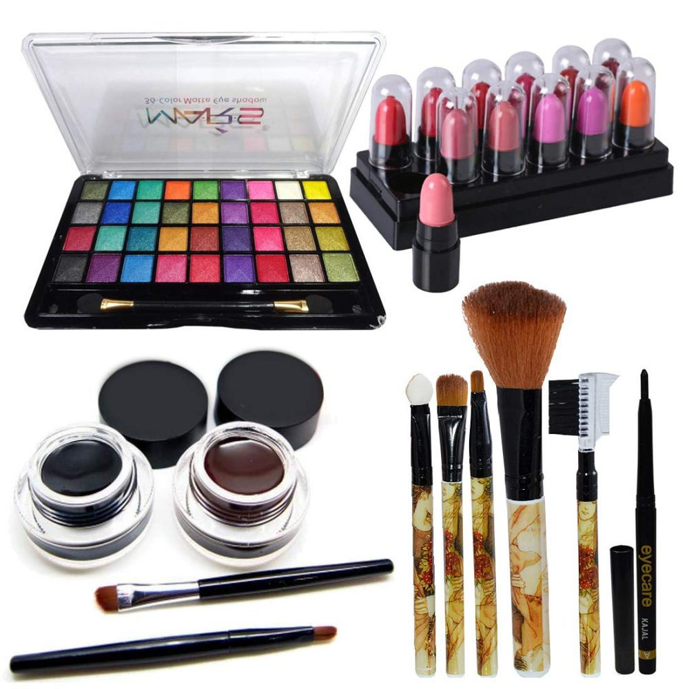 MARS 32 color eyeshadow with eyeliner gel & makeup brush set of 5