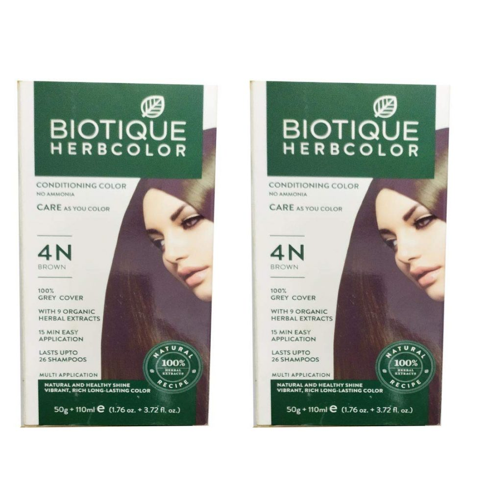 Biotique 2 Herbcolor Conditioning no Ammonia Hair color with 9 Organic herbal Extracts