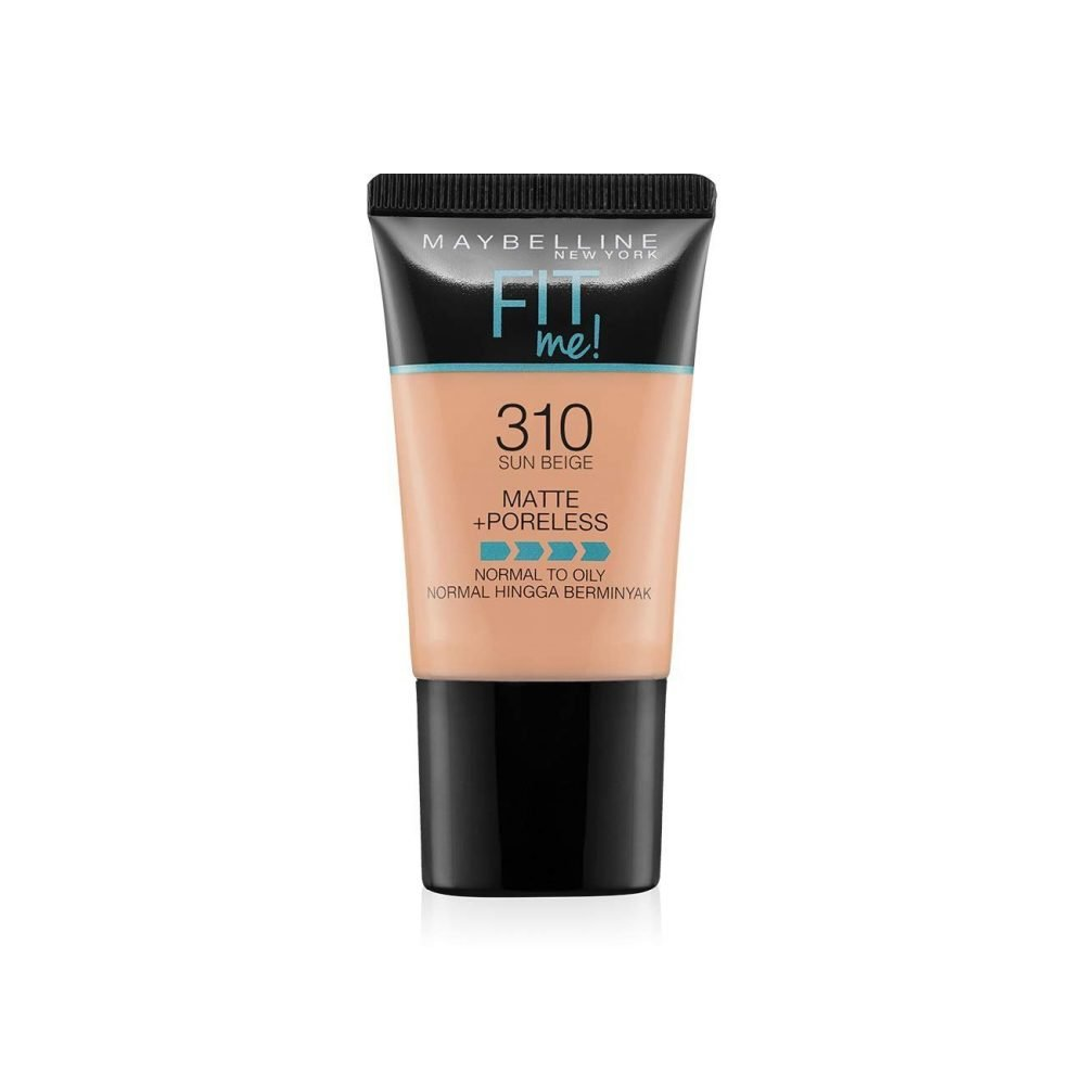 Maybelline New York fit me matte + poreless Liquid Foundation tube