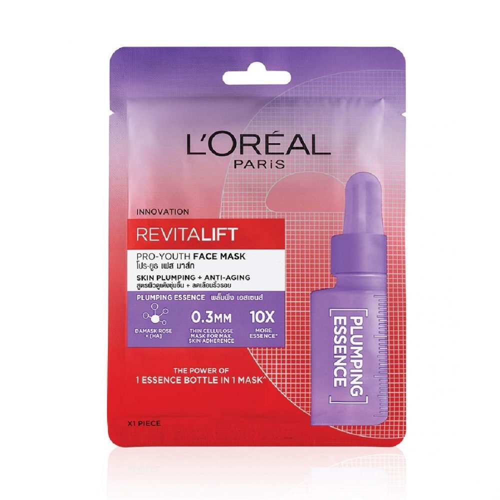 LOREAL Paris Revitalift Essence Face Sheet mask Plumping and Hydrating