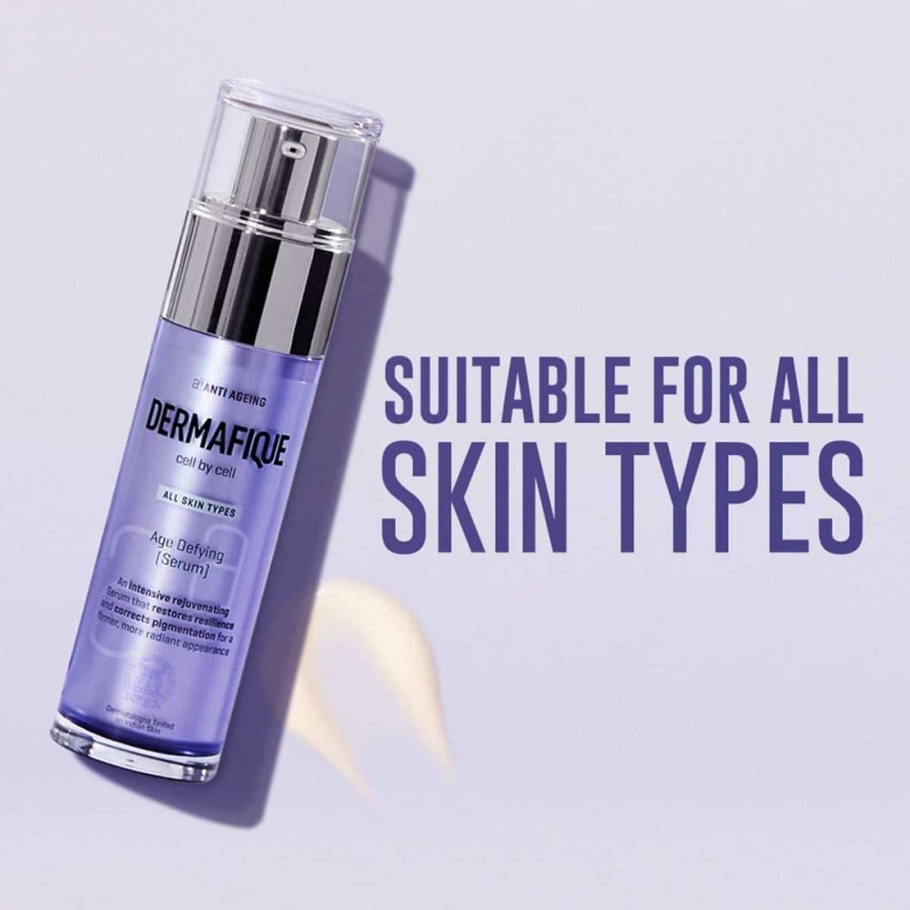 Dermafique Age Defying Face Serum for all skin types, Dermatologist tested, Anti-ageing serum (50g)