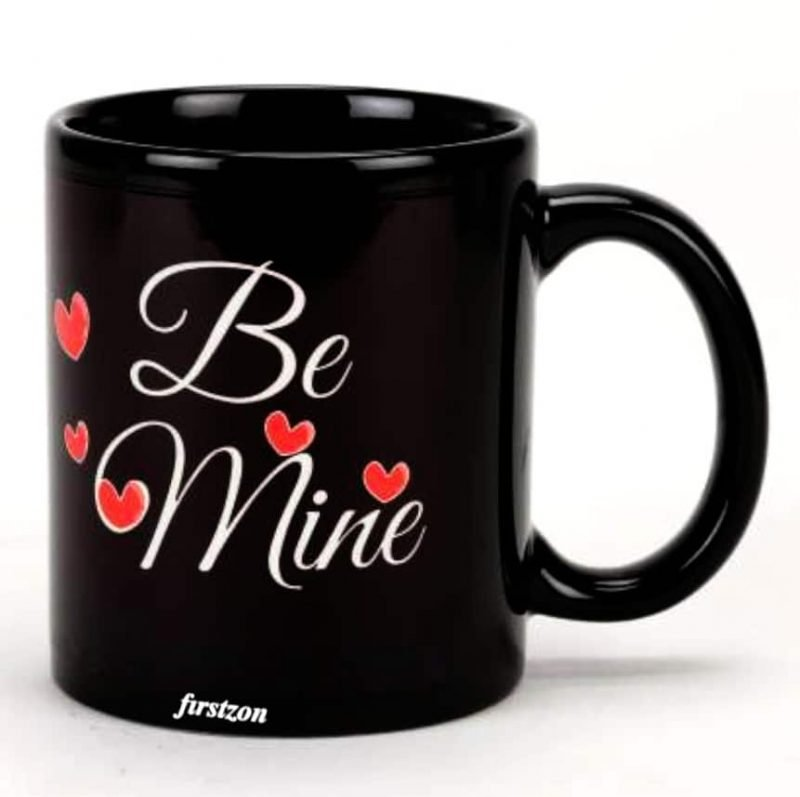 Personalized Special Be Mine couple black mug . coffee Mug