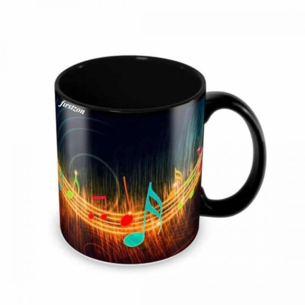 Personalized Special musically design printed black Mug
