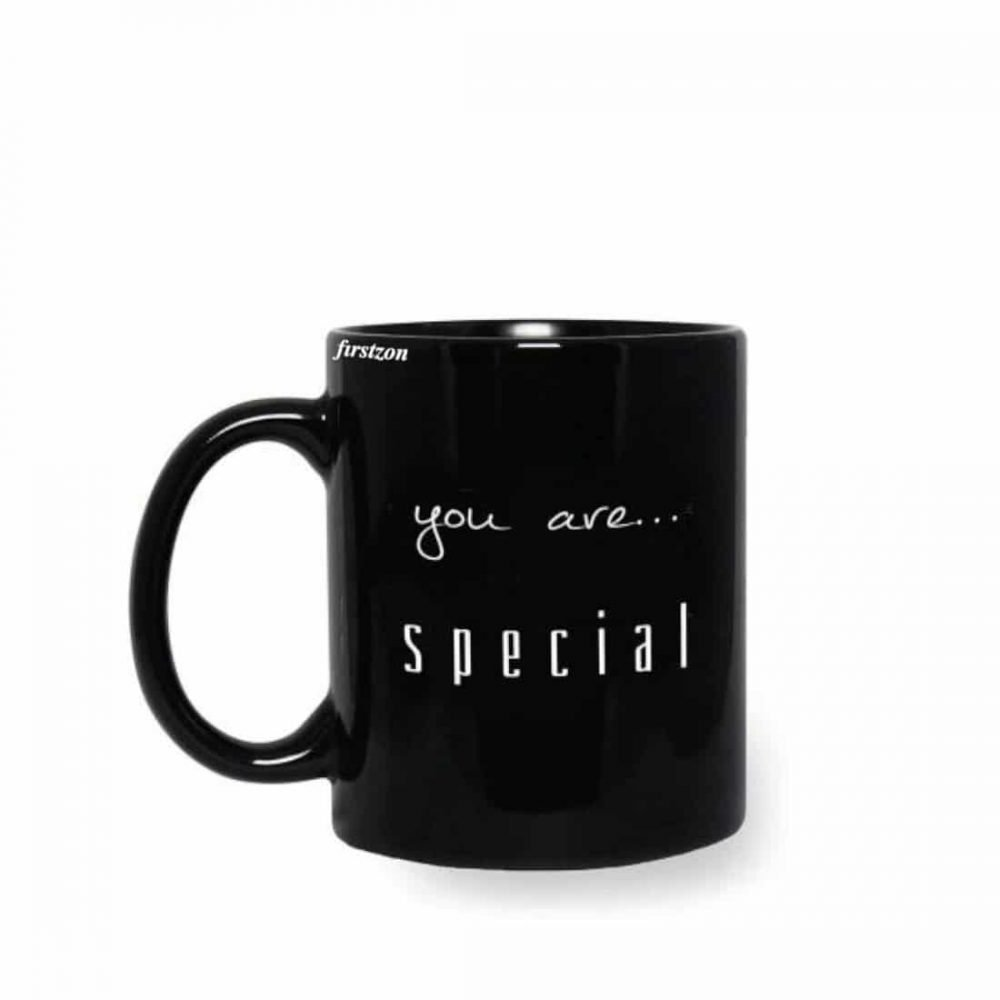 Personalized Special you are.... special printed black Mug