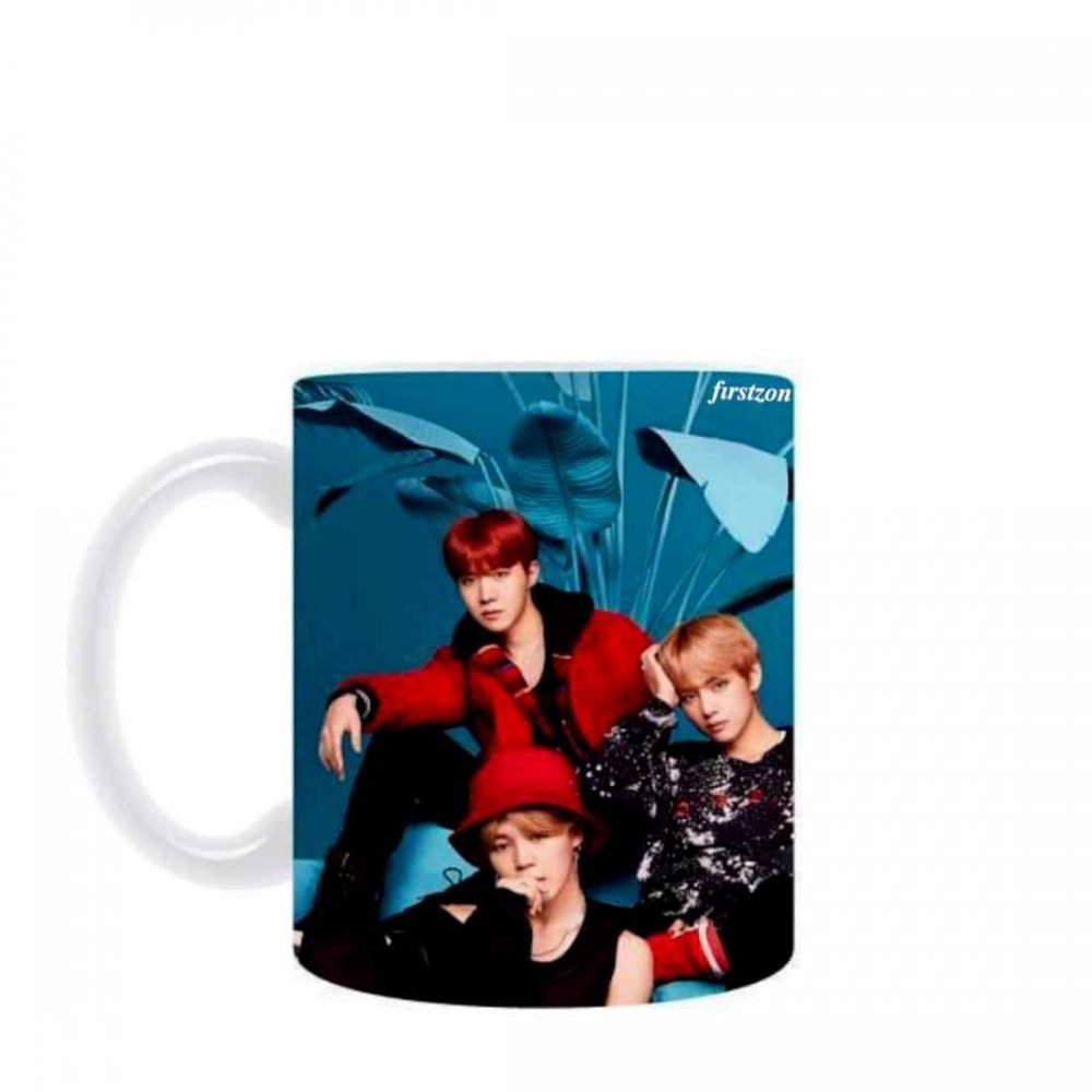 Personalized Special BTS group photo creative design printed white Mug