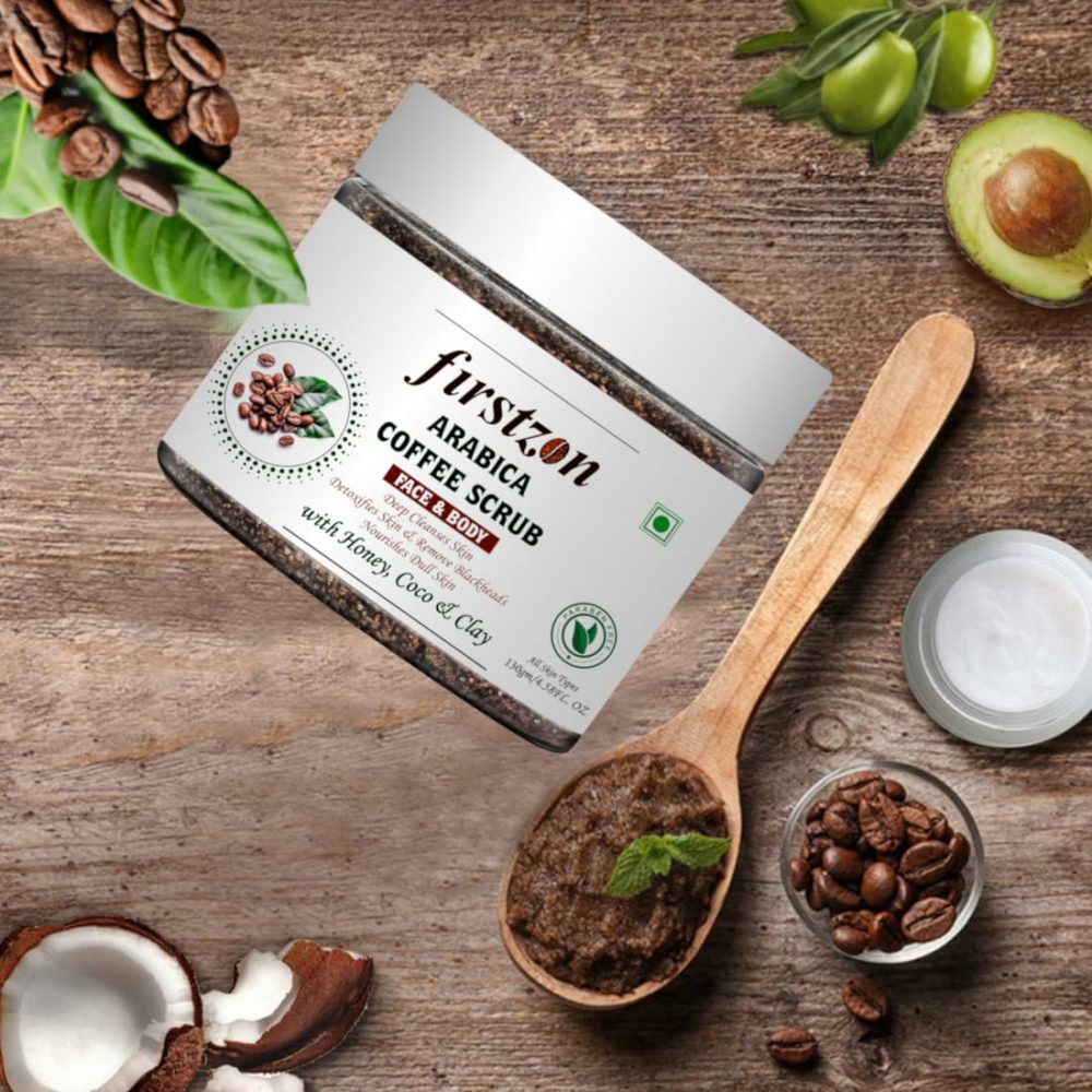 firstzon arabica coffee body scrub with vitamin e