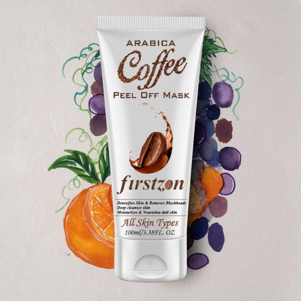 Firstzon coffee peel off mask with vitamin E