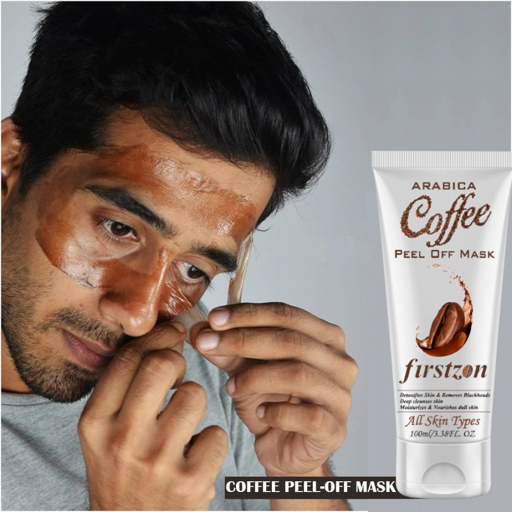 FIRSTZON D-Tan Coffee peel off mask For Men and Women skin Brightening and Whitening