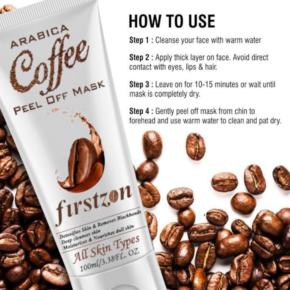 how to use firstzon coffee peel off mask