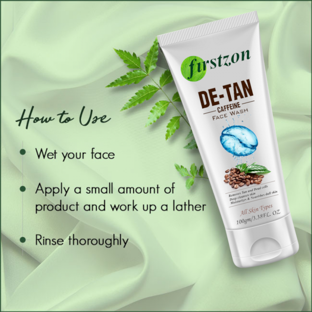 how to use Firstzon coffee face wash