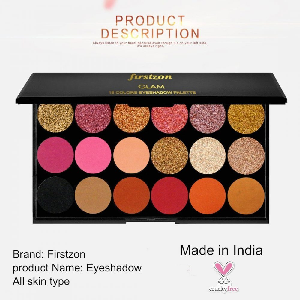 FIRSTZON Matte and shimmer eye shadow combo palette| glam eye shadow combo palette| smokey eye shadow combo palette| eye shadow combo palette| eye shadow powder palette| eye makeup palette| mini makeup palette| 22 g (multi color), made in india, cruelty free