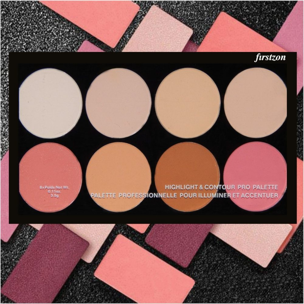 Face blusher highlighter contour combo palette