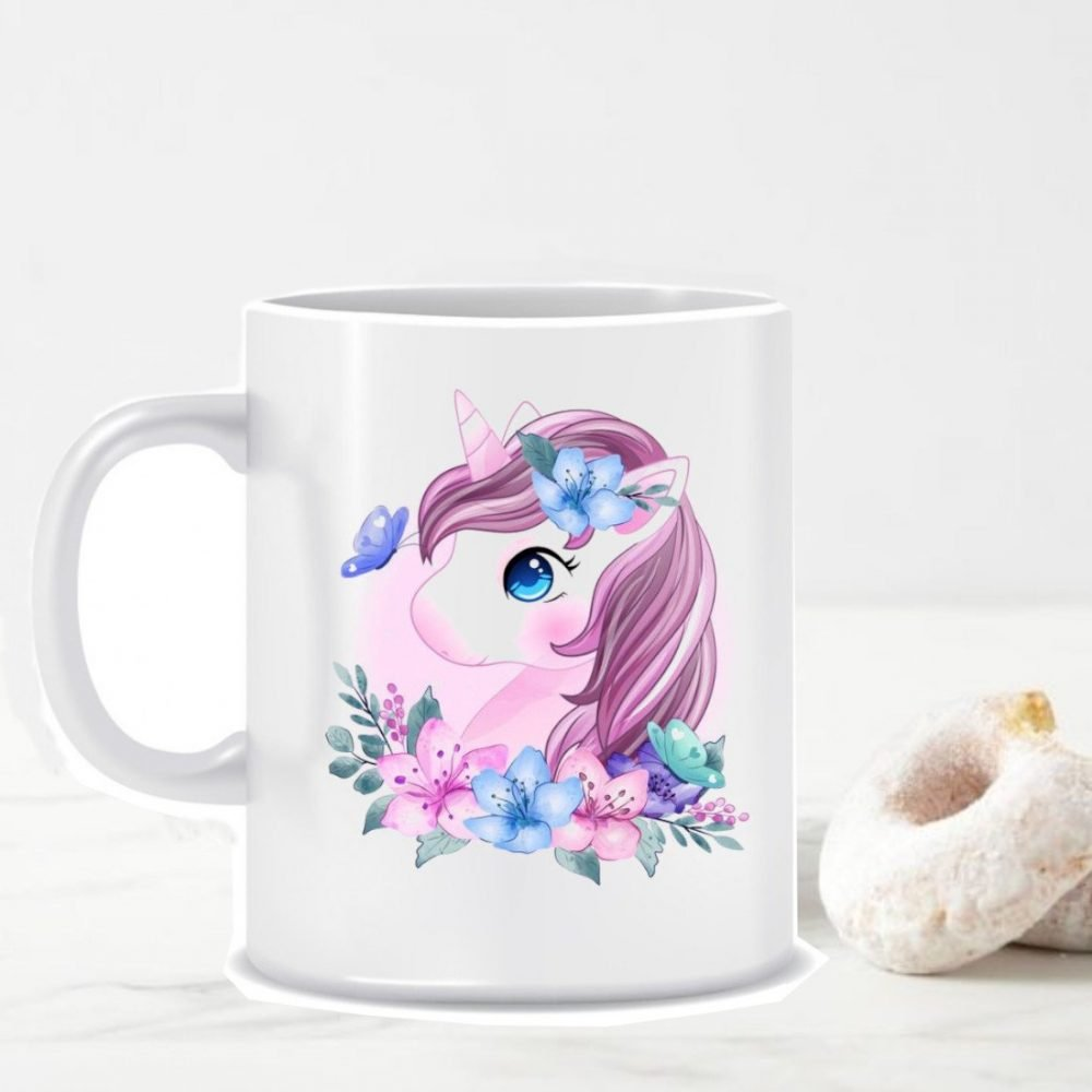 TGC THE GIFT COMPANY white unicorn mug
