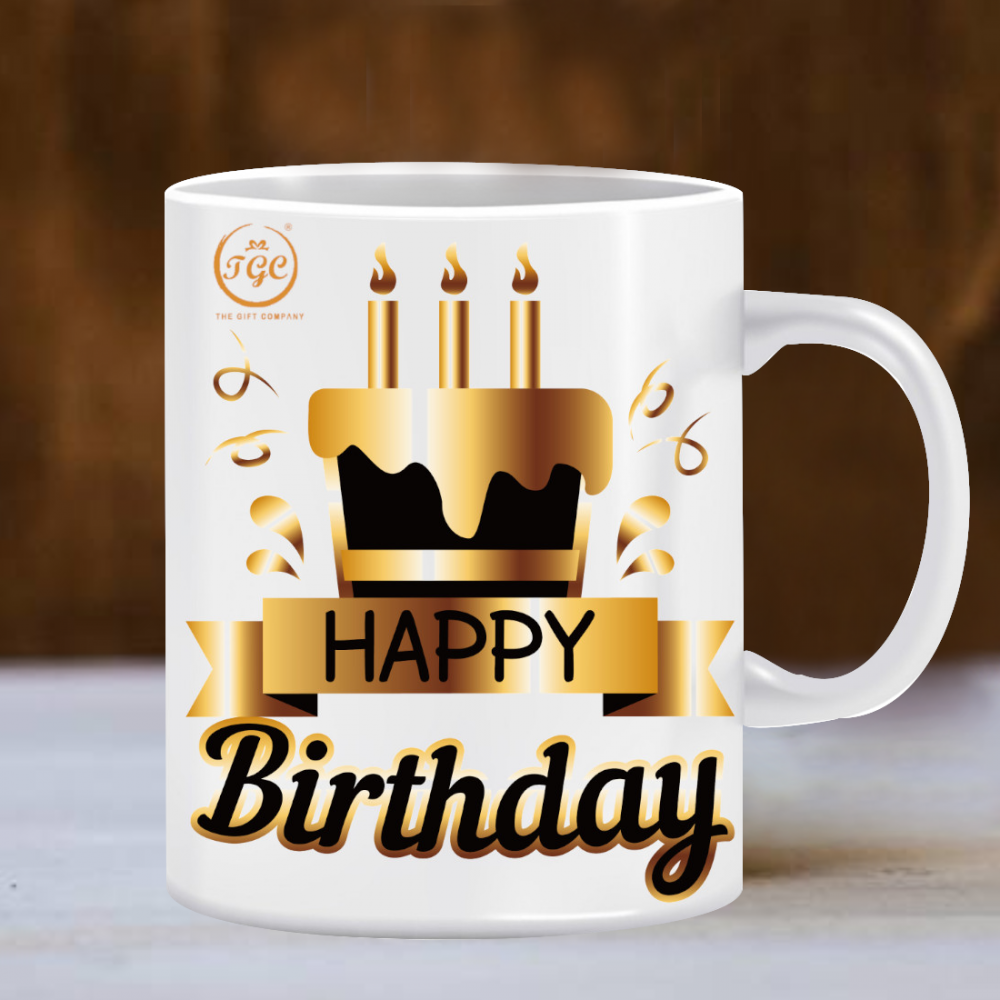 TGC THE GIFT COMPANY happy birthday mug