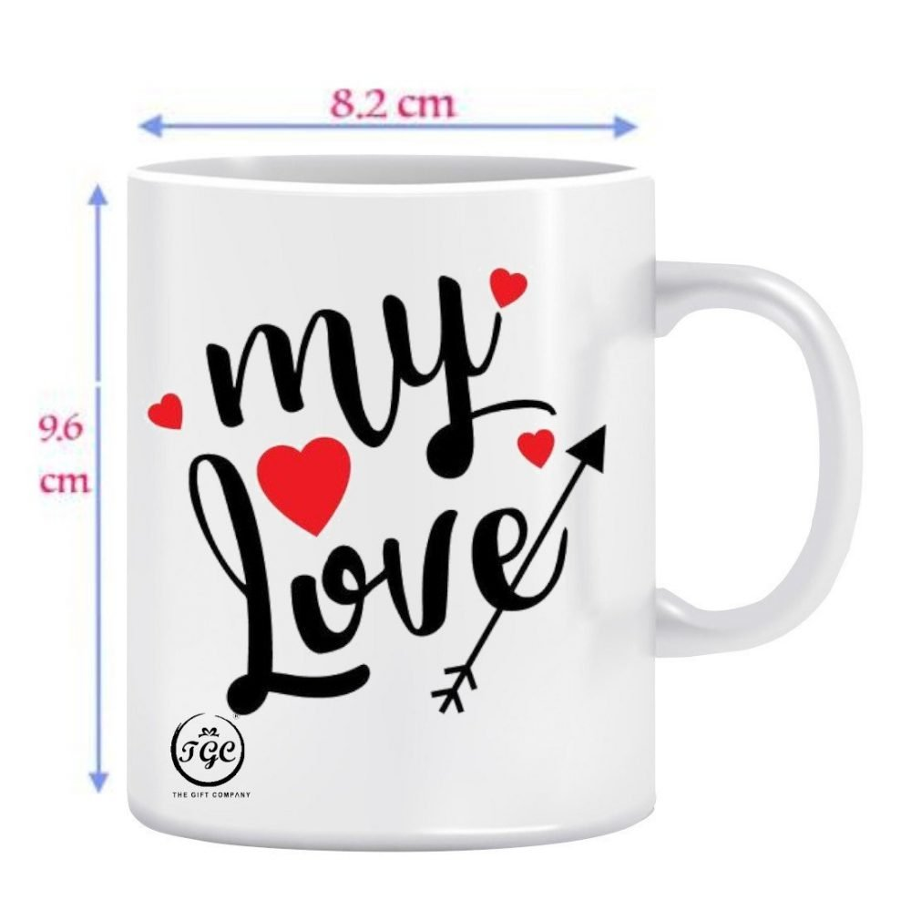 TGC THE GIFT COMPANY white printed mug