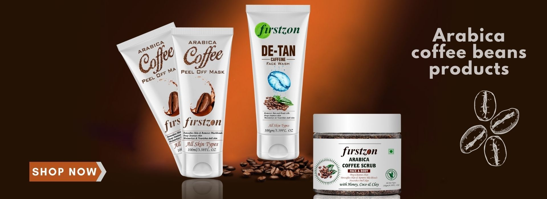 Arabica coffee beans products